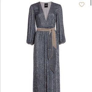 Retrofete Sequin Maxi Dress - size XS